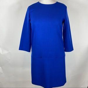 Ann Taylor gorgeous blue shift dress.